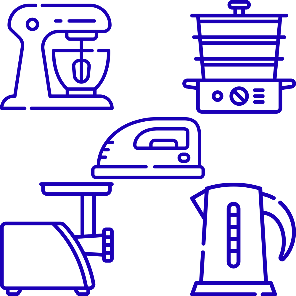 small-household-appliances-blue